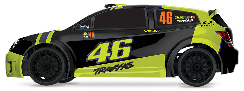 1/18 LaTrax VR46 Rally (#75064-5) Side View (Valentino Rossi VR46 Special Edition)