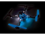 Blue LaTrax Alias: Quad Rotor Helicopter, Ready-To-Fly with 2.4GHz radio system, 650mAh LiPo battery, and single USB-powered charger.