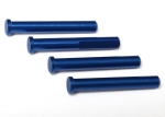Main shaft, 7075-T6 aluminum, blue-anodized (4)/ 1.6x5mm BCS (4)