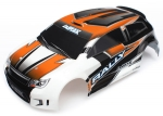 Body, LaTrax® 1/18 Rally, orange (painted)/ decals