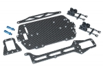 Carbon fiber conversion kit (includes chassis, upper chassis, battery hold down, adhesive foam tape, hardware)