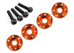 Wheel nut washer, machined aluminum, orange / 3x12mm CS (4)